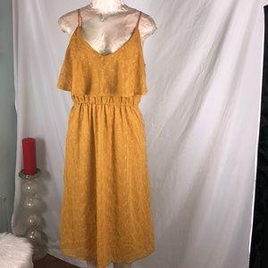 Mustard dress Xl